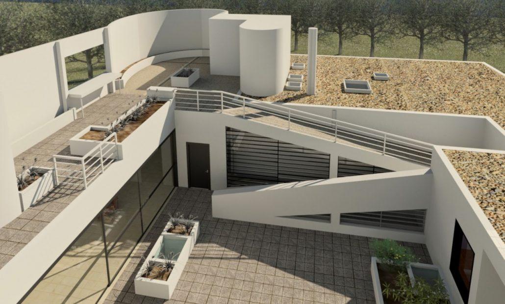 Villa saboye le corbusier y su edificio futurista elevado - Le corbusier tetto giardino ...